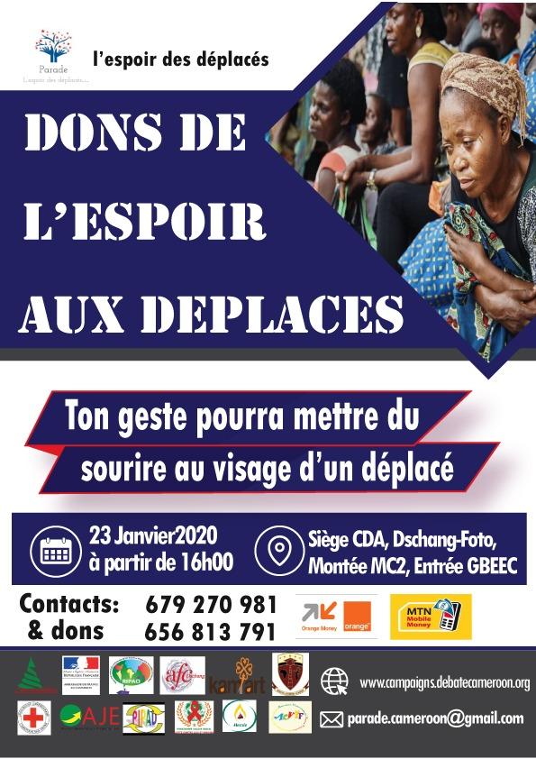 Dons de l'espoir aux deplacés
